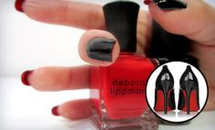 """How-To: Christian Louboutin Nails  (I couldn't decide which board to put this on...""""shoes"""" or """"nails""""?!?"""