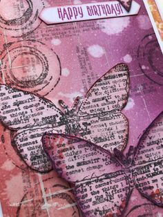 Distress Oxides Birthday Card with AALL and Create stamps (Tracy Evans) - by Nikki Acton Card Making Inspiration, Art Journal Inspiration, Art Journal Pages, Junk Journal, Art Journals, Mixed Media Tutorials, Collage Art Mixed Media, Stamp Printing, Small Art