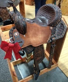 Pozzi Pro by Double J Saddlery with Nile Crocodile. Spotted in Vegas at the NFR, we are booth #945 at Mandalay Bay.