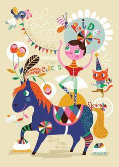 Poster Pretty Little Rider de Helen Dardik