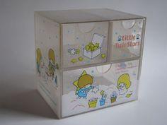 Little Twin Stars vintage 1976 Sanrio Storage Box