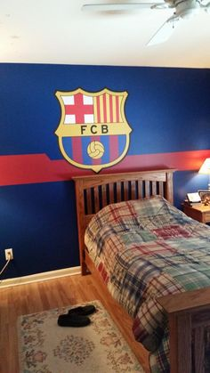 FC Barcelona soccer bedroom. #Fathead #WallDecal