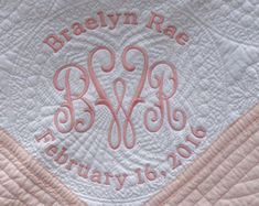 68 Super Ideas For Embroidery Designs Baby Blanket Shops Christmas Embroidery Patterns, Embroidery Monogram, Embroidery Applique, Machine Embroidery, Embroidery Designs, Monogram Towels, Baby Monogram, Embroidered Baby Blankets, Best Baby Blankets