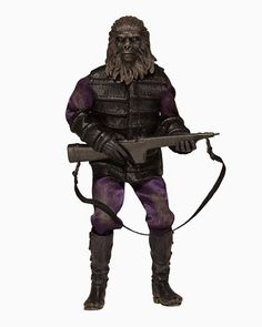 Planet of the Apes - Clothed 8 Inch Action Figure - Classic Gorilla Soldier Planet Of The Apes, Kids Store, Classic Films, Toy Boxes, Old School, Action Figures, Statue, The Originals, Retro