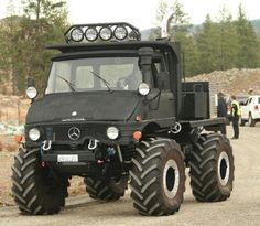 Mercedes-Benz Unimog. This thing is too awesome.