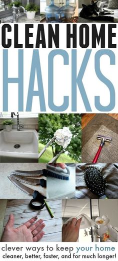 This woman has some great cleaning hacks in here! Definitely going to try a few of these out!