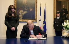Kate Middleton Photos: The Duke and Duchess of Cambridge Sign Book of Condolences after the Paris terrorists attacks Nov 17, 2015