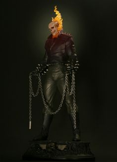 Ghost Rider Danny Ketch statue  Sculpted by: Gabe Perna and Randy Bowen    Release Date: November 2009  Edition Size: 1000  Order Of Release: Phase IV (statue #180)