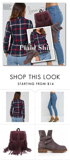 Plaid Shirt by svijetlana on Polyvore featuring moda, plaidshirt, polyvoreeditorial and twinkledeals