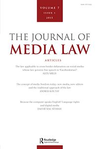Journal of Media Law. It turns the spotlight on all those aspects of law which impinge on and shape modern media practices - from regulation and ownership, to libel law and constitutional aspects of broadcasting such as free speech and privacy, obscenity laws, copyright, piracy, and other aspects of IT law.