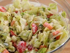 Mini Chopped Salad with Buttermilk Dressing recipe from Ree Drummond via Food Network