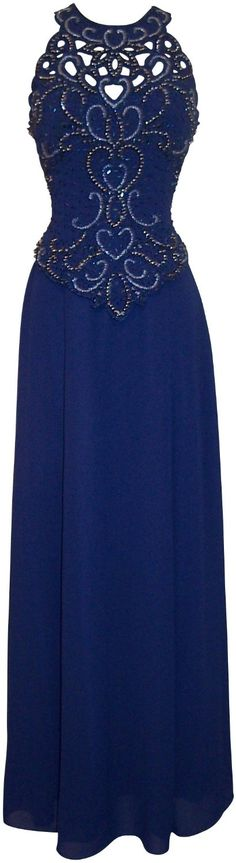 Navy blue mother of the groom, bride evening plus size gowns