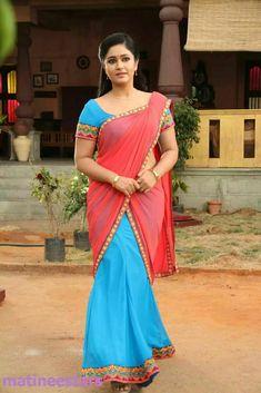 Indian Actress Gallery, South Indian Actress, Beauty Full Girl, Beauty Women, Women's Beauty, Indian Girls Images, Half Saree Designs, Indian Beauty Saree, Indian Natural Beauty