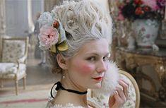 The Marie Antoinette from Sophia Coppola's movie.- I envy her hair the whole damn movie