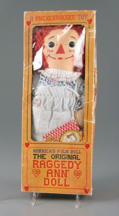 America's Folk Doll: The Original Raggedy Ann Doll My Childhood Memories, Childhood Toys, Sweet Memories, Antique Dolls, Vintage Dolls, Ann Doll, Raggedy Ann And Andy, Retro Toys, Old Toys