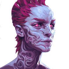 Color experimentation, Ayran Oberto on ArtStation at https://www.artstation.com/artwork/4G4k2