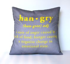 Don't get hangry! via Etsy.