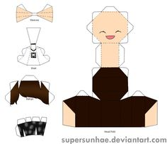 sehun papercraft template by supersunhae