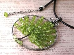 Tree of Life necklace Peridot pendant sterling silver  by Arctida, $125.00 @Heather Dechman