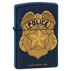 "Zippo ""Police Badge"" Navy Blue Matte Lighter, 7287 by Zippo. $22.71. Zippo ""Police Badge"" Navy Blue Matte Lighter, 7287. Save 22%!"