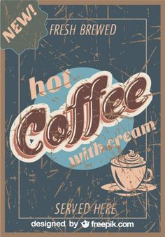 More than a million free vectors, PSD, photos and free icons. Exclusive freebies and all graphic resources that you need for your projects Vintage Words, Vintage Stuff, Italian Coffee, Coffee Poster, Coffee Recipes, Hot Coffee, Coffee Art, I Love Coffee, Coffee Drinks