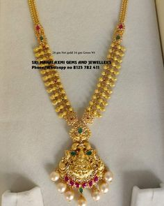 Gold Necklace Simple, Gold Jewelry Simple, Gold Temple Jewellery, Gold Jewellery Design, Gold Earrings Designs, Necklace Designs, Blouse, Jewerly, Blouses