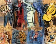Mexican Orchestra Artwork by Raoul Dufy Hand-painted and Art Prints on canvas for sale,you can custom the size and frame