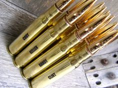 GROOMSMEN GIFTS 50 Caliber Brass Engraved Bottle Openers sure to impress your wedding party! #bottleopener #groomsmengift #bestman