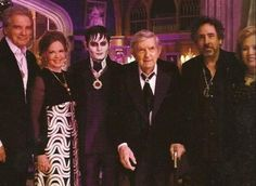 Original Barnabas Collins, Jonathan Frid, and Johnny Depp as Barnabas