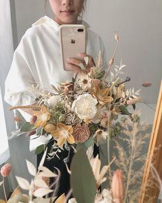 New flowers bouquet floral arrangements wedding ideas 27 ideas Dried Flower Bouquet, Flower Bouquet Wedding, Wedding Dried Flowers, Flower Bouquets, Bridal Bouquets, Deco Floral, Arte Floral, Floral Design, Boquette Wedding