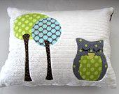 sleepy little owl pillow