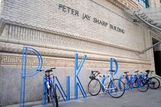 David Byrne creates movable typographic bike racks. The singer and artist puts a creative twist on a utilitarian structure.
