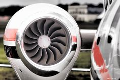 Aircraft engine closeup - Farnborough Air Show
