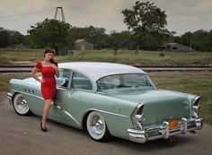 Sydney and my '55 Buick. Photo by Trent Sherrill.
