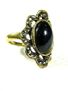 Women's Vintage Style Silver Tone Ring Black Onyx Gemstone Unique Fashion Mogul Interior http://www.amazon.com/dp/B00Q9UA294/ref=cm_sw_r_pi_dp_q0fEub1WGVKBH