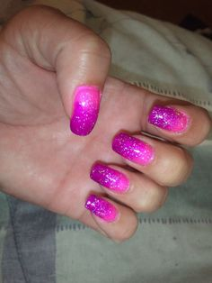 Glittery Fingers & Sparkling Toes, Purple/Pink Gradient