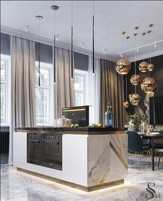 Home Decor Kitchen .Home Decor Kitchen Luxury Kitchen Design, Interior Design Kitchen, Interior Decorating, Farmhouse Interior, Diy Interior, Luxury Interior Design, Decorating Tips, Elegant Kitchens, Luxury Kitchens