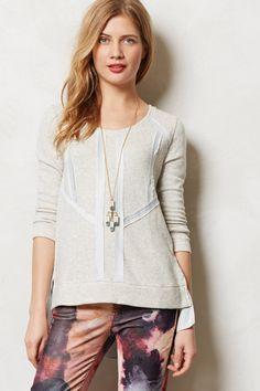 Ribbon Trimmed Sweatshirt - anthropologie.com