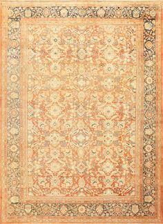 Antique Persian Sultanabad Mahal Rug, Country of Origin: Persia, Circa Date: First Quarter of The 20th century 10 ft 5 in x 14 ft 6 in (3.17 m x 4.42 m)