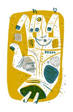 pam wishbow - Palmistry mini print, because I can't help myself.