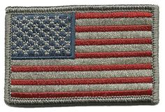 Tactical USA Flag Patch - Subdued Silver USA by Gadsden and Culpeper #GadsdenandCulpeper
