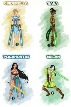 Star wars disney princesses
