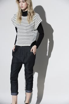 Automne | hiver 16.17 – eve gravel stripes top Buy Local, Black Jeans, Pants, Stuff To Buy, Collection, Tops, Women, Fashion, Fall Winter