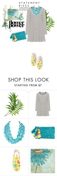 """""""Statement Necklace"""" by youaresofashion ❤ liked on Polyvore featuring Yoek, Moschino and Trademark Fine Art"""