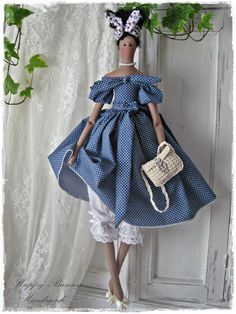 Tilda doll Miss Priscilla Black Skin Fabric doll African American fabric doll Dark Skin Tilda doll Handmade Art doll Primitive doll Doll Patterns, Clothing Patterns, Tilda Toy, Diy Couture, Crochet Handbags, Fabric Dolls, Dot Dress, Handmade Art, Fabric Crafts