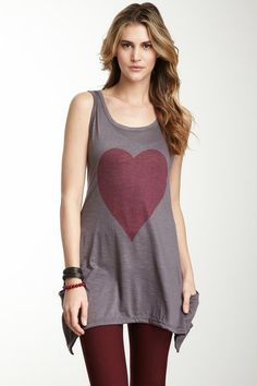 Pink Heart Tank by Go Couture on @HauteLook