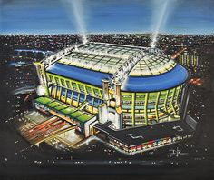 Amsterdam Arena - home of AFC Ajax. Available as great gift ideas at www.sportsstadiaart.co.uk