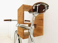 Mikili   Walnut bike wall mount