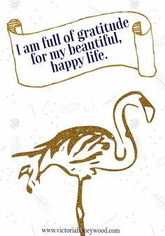 Positive Monday - Gratitude - Victoria Honeywood Good Notes, Positive Affirmations, Happy Life, Gratitude, Victoria, Positivity, Writing, The Happy Life, Positive Reinforcement