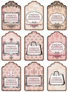 Etiquetas para tarros o frascos  Sheet shabby handmade pink | ~Shabby chic | Nostalgie  Brocante